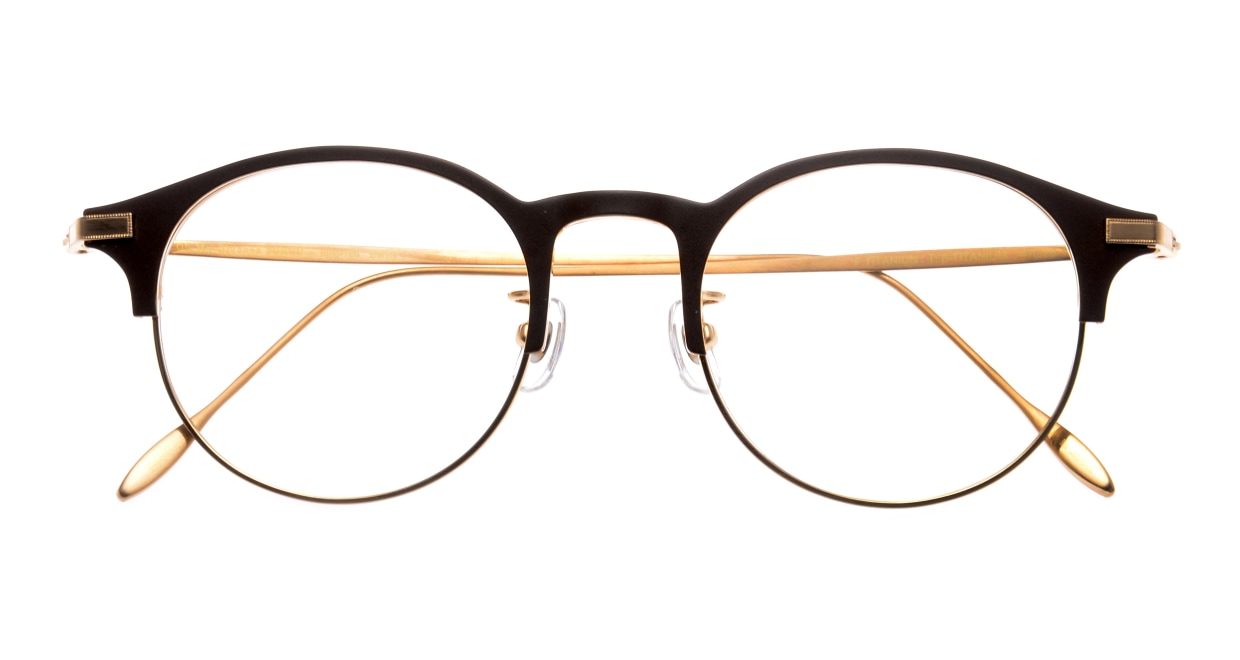 Oh My Glasses TOKYO Benny omg-126-BR-GD-47 [メタル/鯖江産/丸メガネ/茶色]  3