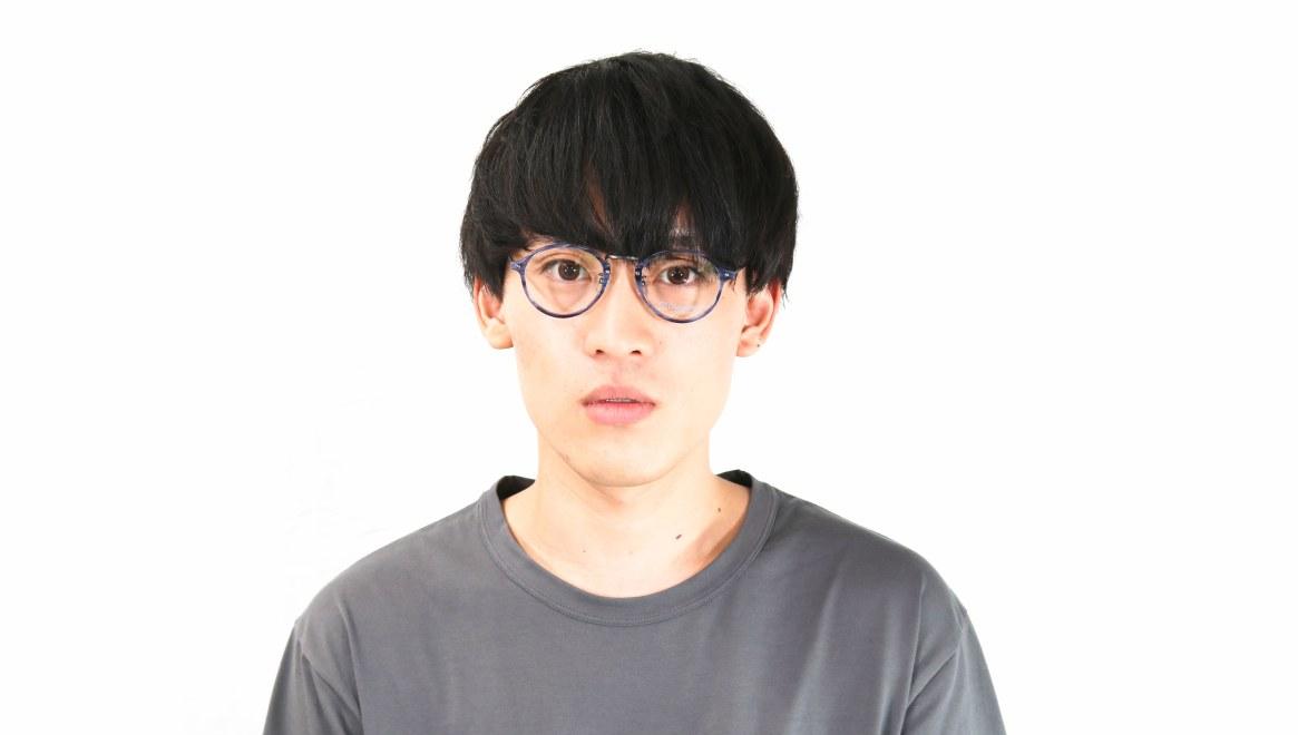オニメガネ OG7101-C1-47 [鯖江産/丸メガネ/青]  4