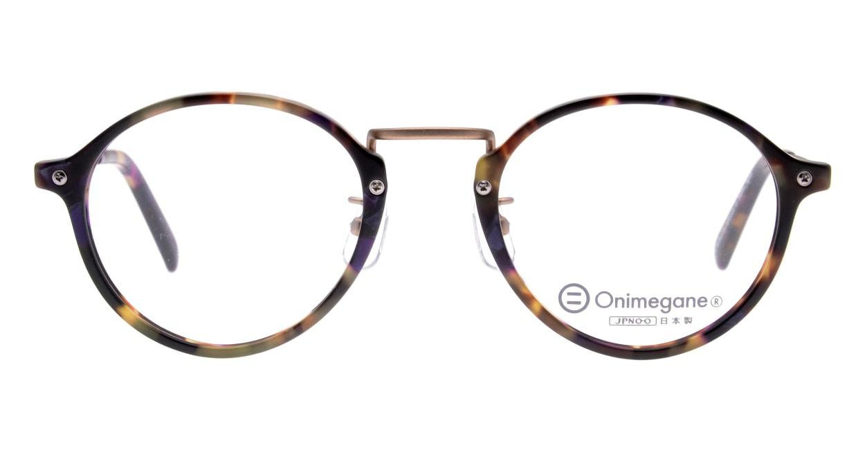 オニメガネ OG7101-C3-47 [鯖江産/丸メガネ/べっ甲柄]