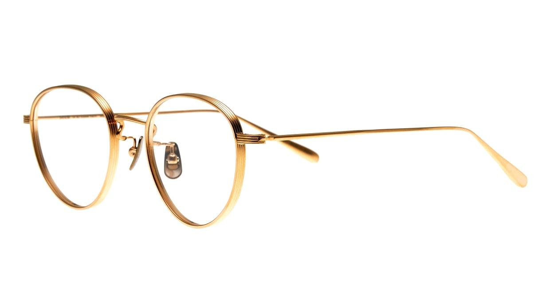 Oh My Glasses TOKYO Lester omg-107-GD-49 [メタル/鯖江産/丸メガネ/ゴールド]  1