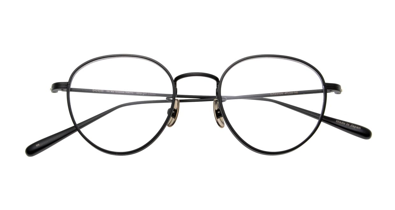 seem Oh My Glasses TOKYO Lester omg-107-MBK-49 [メタル/鯖江産/丸メガネ]  4