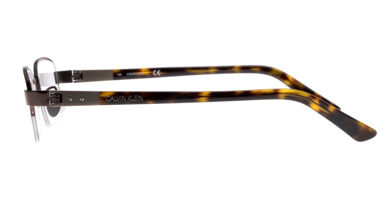 カルバンクライン CK18300A-200-52 [メタル/ハーフリム/スクエア/茶色]  2