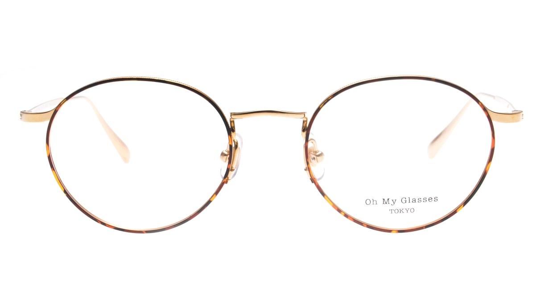 Oh My Glasses TOKYO Monica-49-omg-112-DM [メタル/鯖江産/丸メガネ/べっ甲柄]