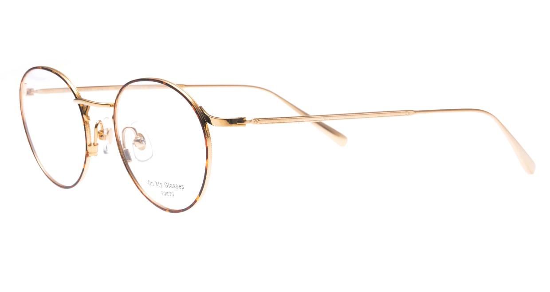 Oh My Glasses TOKYO Monica-49-omg-112-DM [メタル/鯖江産/丸メガネ/べっ甲柄]  1