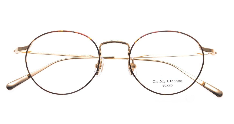 Oh My Glasses TOKYO Monica-49-omg-112-DM [メタル/鯖江産/丸メガネ/べっ甲柄]  4