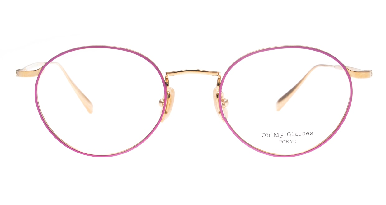 Oh My Glasses TOKYOomg-112-PK-49-monica [メタル/鯖江産/丸メガネ/ピンク]