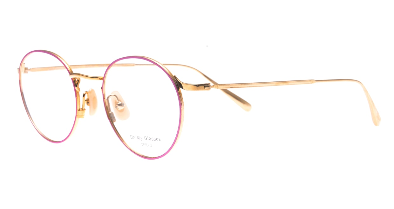 Oh My Glasses TOKYOomg-112-PK-49-monica [メタル/鯖江産/丸メガネ/ピンク]  1
