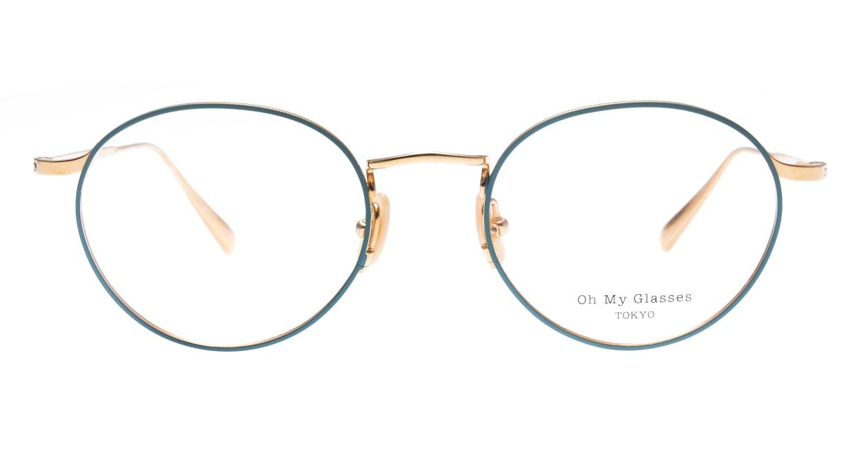 Oh My Glasses TOKYO Monica omg-112-GR-49 [メタル/鯖江産/丸メガネ/緑]