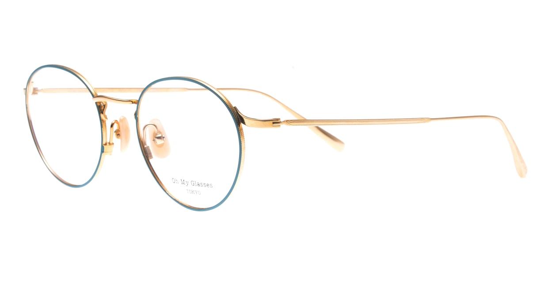 Oh My Glasses TOKYO Monica omg-112-GR-49 [メタル/鯖江産/丸メガネ/緑]  1