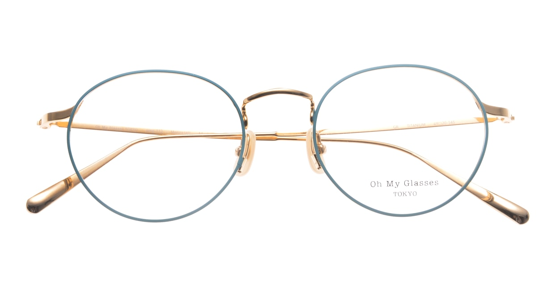 Oh My Glasses TOKYO Monica omg-112-GR-49 [メタル/鯖江産/丸メガネ/緑]  4