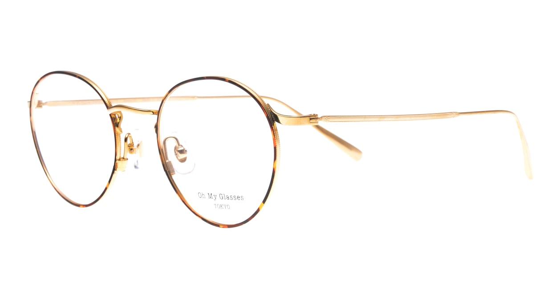 Oh My Glasses TOKYO Monica-50-omg-112-DM [メタル/鯖江産/丸メガネ/べっ甲柄]  1