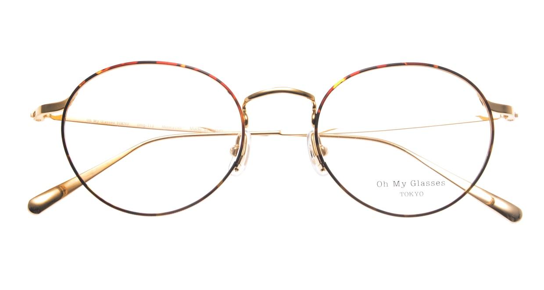 Oh My Glasses TOKYO Monica omg-112-DM-50 [メタル/鯖江産/丸メガネ/べっ甲柄]  4