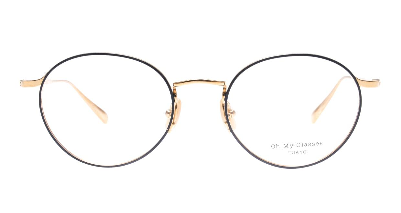 Oh My Glasses TOKYO Monica-50-omg-112-NV [メタル/鯖江産/丸メガネ/青]