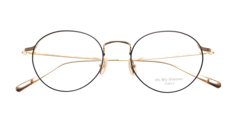 Oh My Glasses TOKYO Monica-50-omg-112-NV [メタル/鯖江産/丸メガネ/青]  4