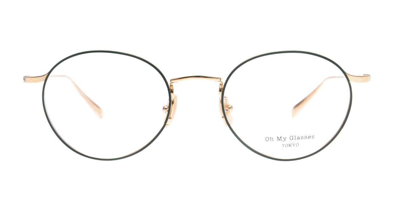 Oh My Glasses TOKYO Monica-50-omg-112-GR [メタル/鯖江産/丸メガネ/緑]