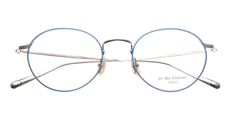 Oh My Glasses TOKYO Monica-50-omg-112-BL [メタル/鯖江産/丸メガネ/青]  4