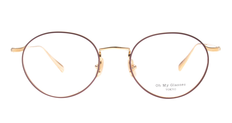 Oh My Glasses TOKYO Monica-50-omg-112-BR [メタル/鯖江産/丸メガネ/ピンク]