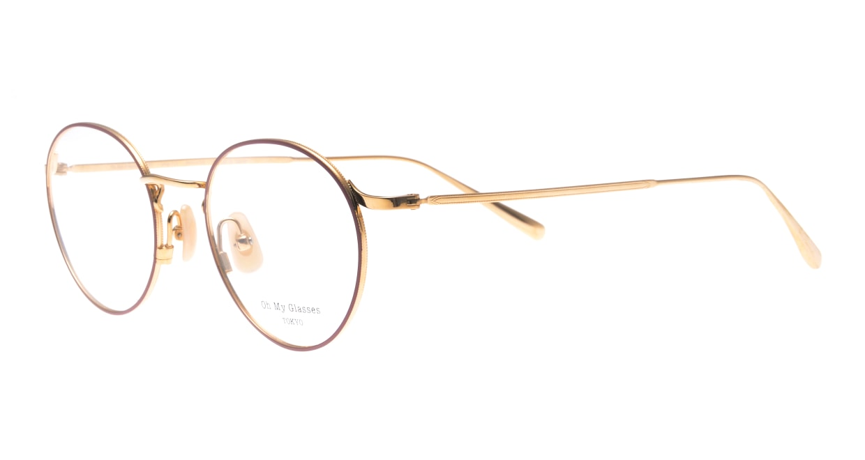 Oh My Glasses TOKYO Monica-50-omg-112-BR [メタル/鯖江産/丸メガネ/ピンク]  1