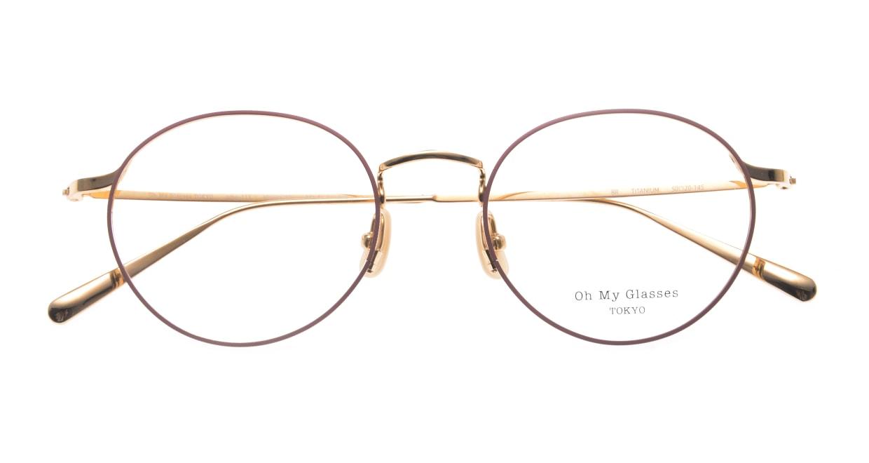 Oh My Glasses TOKYO Monica-50-omg-112-BR [メタル/鯖江産/丸メガネ/ピンク]  4