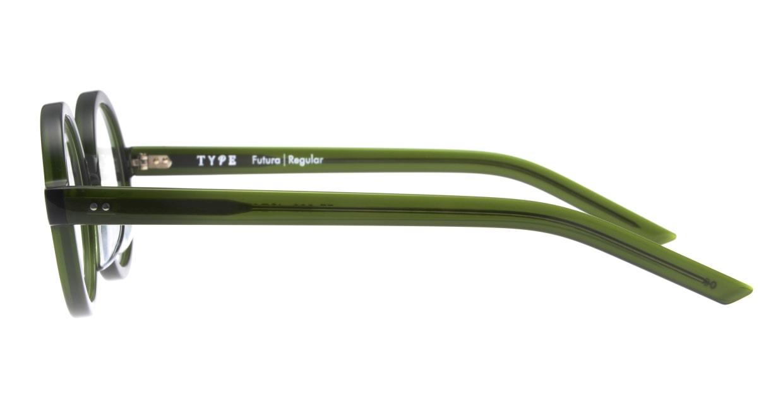 TYPE Futura-Regular-06-GN-45 [鯖江産/丸メガネ/緑]  2