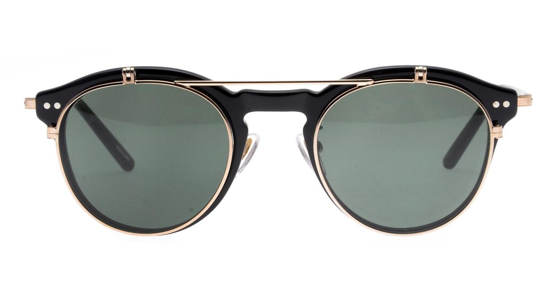 越前國甚六作 Seem Oh My Glasses TOKYOコラボ SP-001-C-1-48 [黒縁/鯖江産/丸メガネ]