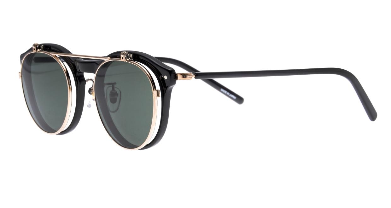 越前國甚六作 Seem Oh My Glasses TOKYOコラボ SP-001-C-1-48 [黒縁/鯖江産/丸メガネ]  1