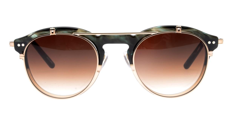 越前國甚六作 Seem Oh My Glasses TOKYOコラボ SP-001-C-5-48 [鯖江産/丸メガネ/緑]