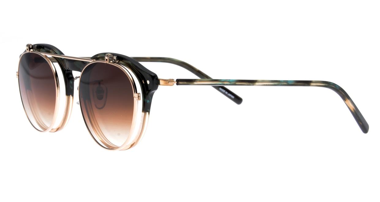 越前國甚六作 Seem Oh My Glasses TOKYOコラボ SP-001-C-5-48 [鯖江産/丸メガネ/緑]  1