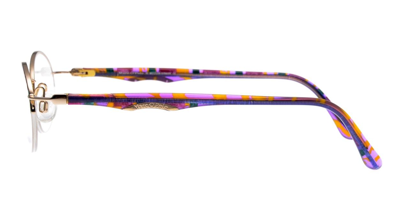 マルコポーロ5004-572-47 [メタル/ハーフリム/オーバル/派手]  2