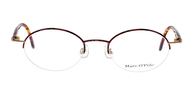 マルコポーロ3532-628-49 [メタル/ハーフリム/オーバル/茶色]