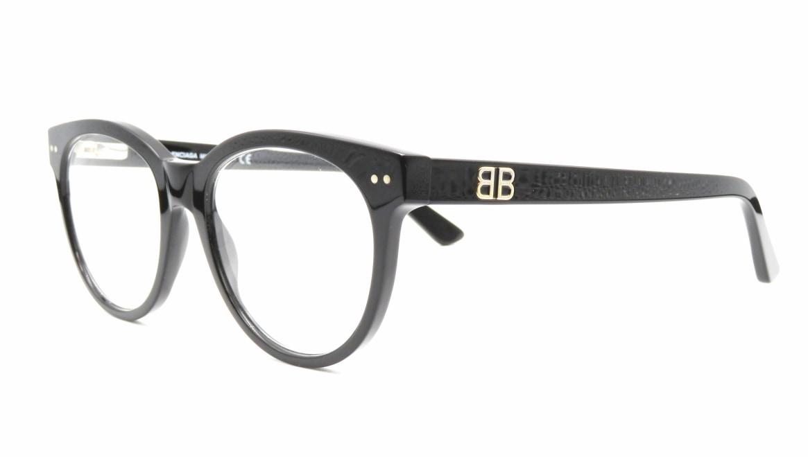 バレンシアガ BA5088-001-52 [黒縁/丸メガネ]  1