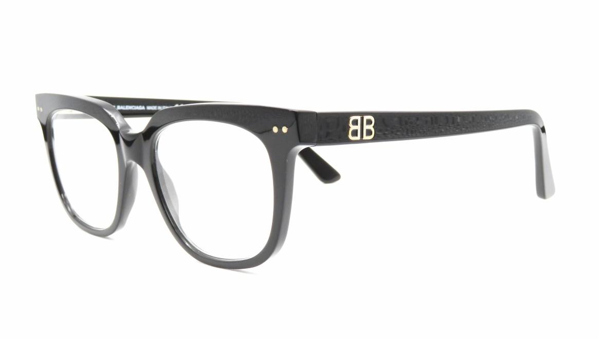 バレンシアガ BA5089-001-51 [黒縁/ウェリントン]  1