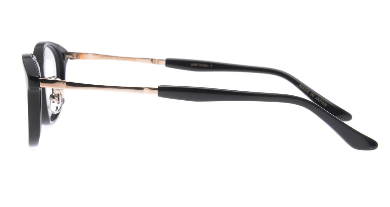 アーバンリサーチ URF 7018J-1-50 [黒縁/鯖江産/ウェリントン]  2