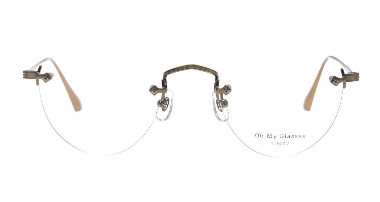 Oh My Glasses TOKYO omg-127 Aretha-ATG-47 [メタル/鯖江産/縁なし/丸メガネ/ゴールド]