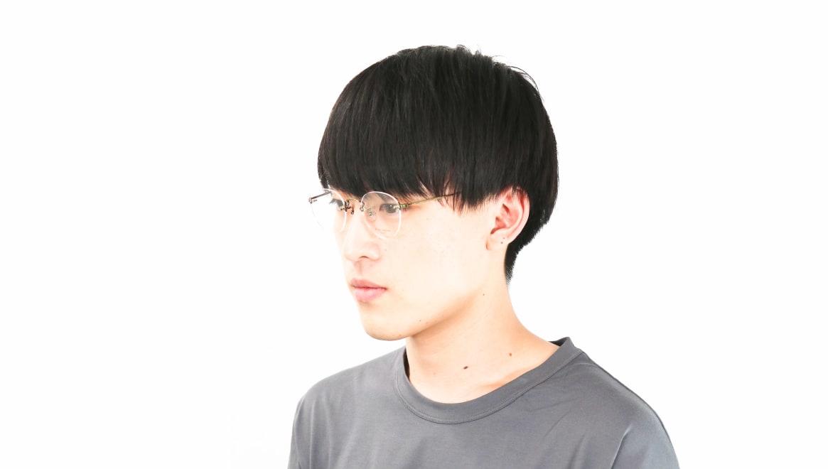 Oh My Glasses TOKYO omg-127 Aretha-ATG-47 [メタル/鯖江産/縁なし/丸メガネ/ゴールド]  6