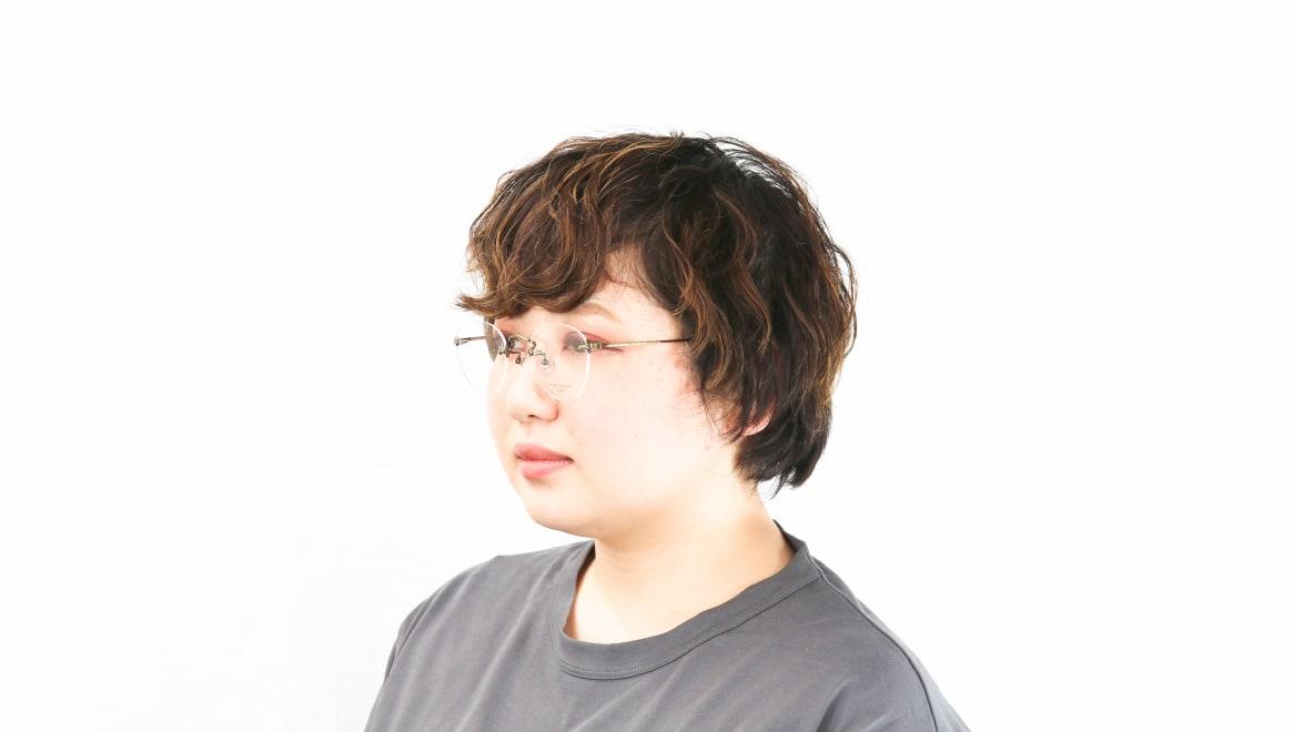 Oh My Glasses TOKYO omg-127 Aretha-ATG-47 [メタル/鯖江産/縁なし/丸メガネ/ゴールド]  8