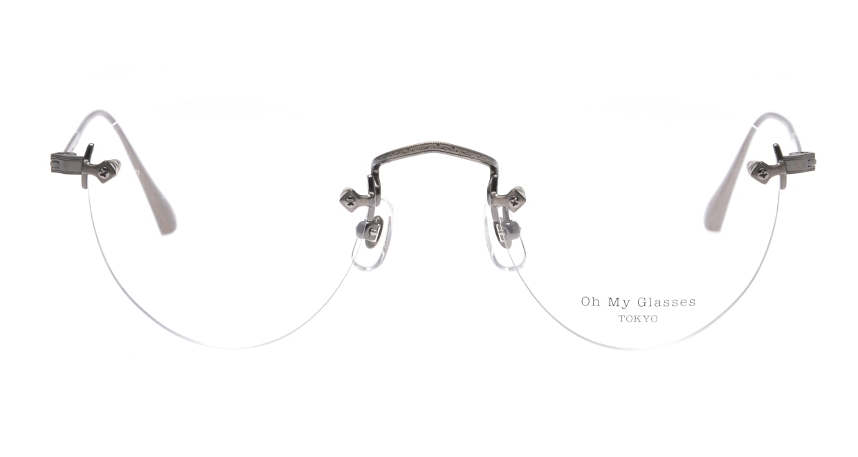Oh My Glasses TOKYO Aretha omg-127-ATS-47 [メタル/鯖江産/縁なし/丸メガネ/シルバー]