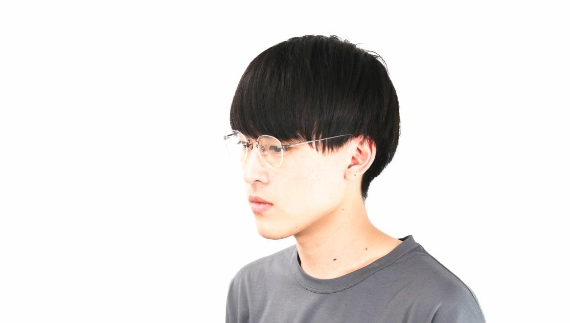 Oh My Glasses TOKYO Aretha omg-127-ATS-47 [メタル/鯖江産/縁なし/丸メガネ/シルバー]  6
