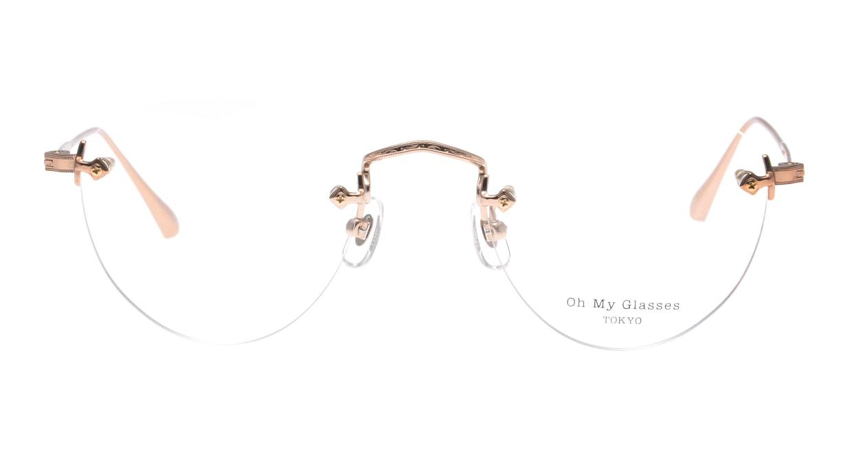 Oh My Glasses TOKYO omg-127 Aretha-RG-47 [メタル/鯖江産/縁なし/丸メガネ/ゴールド]