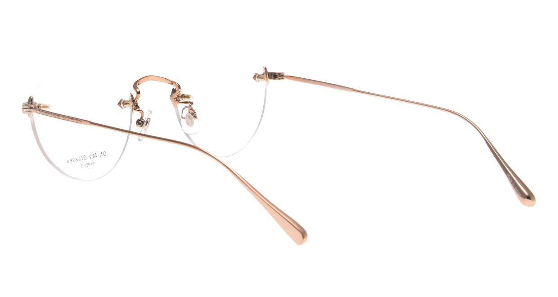 Oh My Glasses TOKYO omg-127 Aretha-RG-47 [メタル/鯖江産/縁なし/丸メガネ/ゴールド]  3