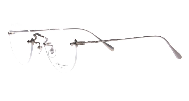 Oh My Glasses TOKYO omg-127 Aretha-GRY-47 [メタル/鯖江産/縁なし/丸メガネ/シルバー]  1