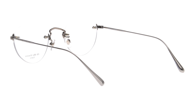 Oh My Glasses TOKYO omg-127 Aretha-GRY-47 [メタル/鯖江産/縁なし/丸メガネ/シルバー]  3