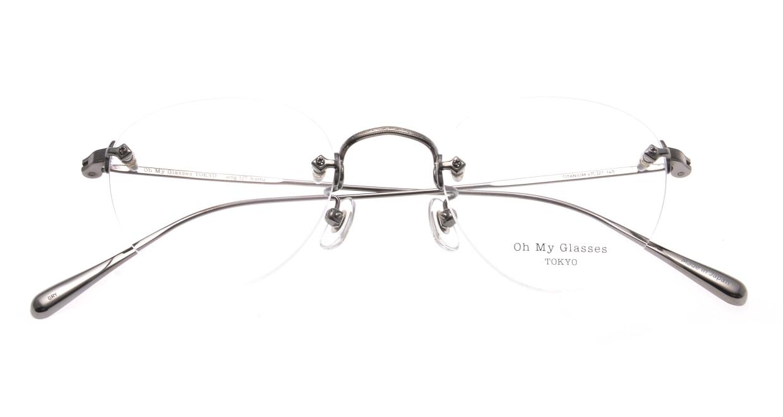Oh My Glasses TOKYO omg-127 Aretha-GRY-47 [メタル/鯖江産/縁なし/丸メガネ/シルバー]  4