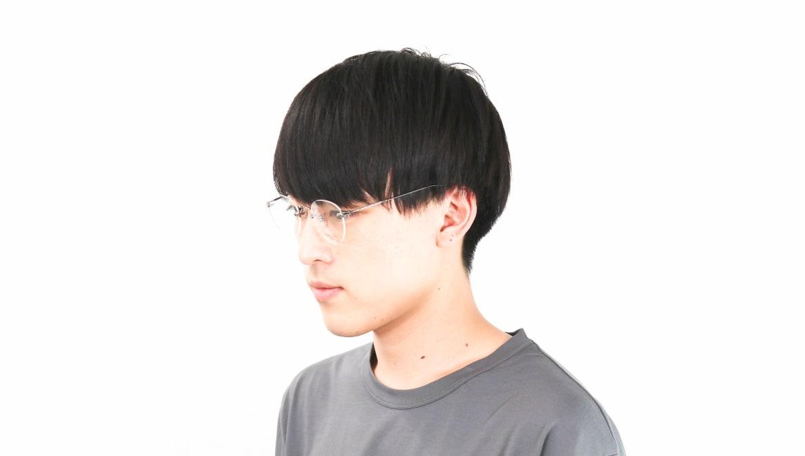 Oh My Glasses TOKYO omg-127 Aretha-GRY-47 [メタル/鯖江産/縁なし/丸メガネ/シルバー]  6