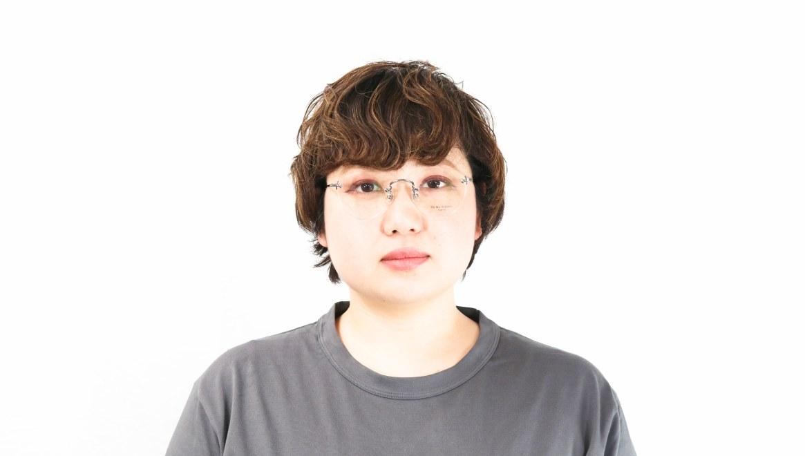 Oh My Glasses TOKYO omg-127 Aretha-GRY-47 [メタル/鯖江産/縁なし/丸メガネ/シルバー]  7