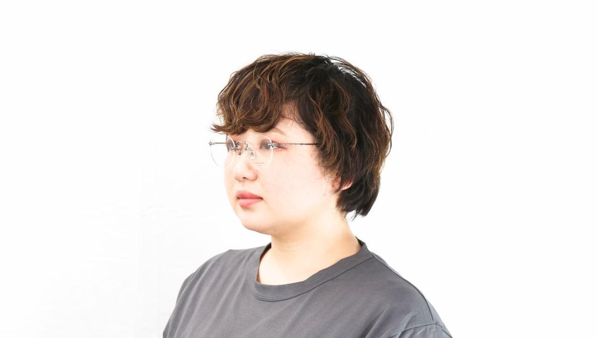 Oh My Glasses TOKYO omg-127 Aretha-GRY-47 [メタル/鯖江産/縁なし/丸メガネ/シルバー]  8