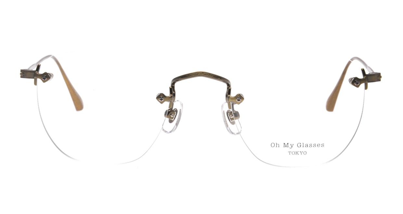 Oh My Glasses TOKYO Otis omg-128-ATG-48 [メタル/鯖江産/縁なし/ウェリントン/ゴールド]