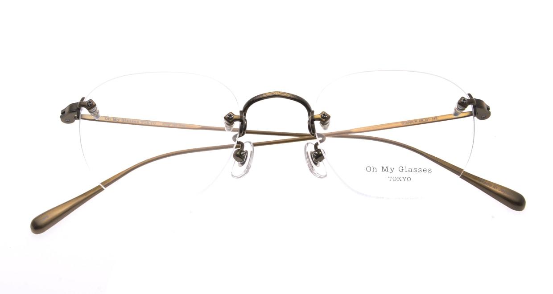 Oh My Glasses TOKYO Otis omg-128-ATG-48 [メタル/鯖江産/縁なし/ウェリントン/ゴールド]  4