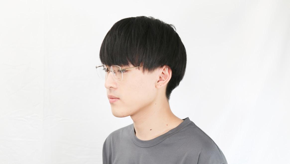 Oh My Glasses TOKYO Otis omg-128-ATG-48 [メタル/鯖江産/縁なし/ウェリントン/ゴールド]  6