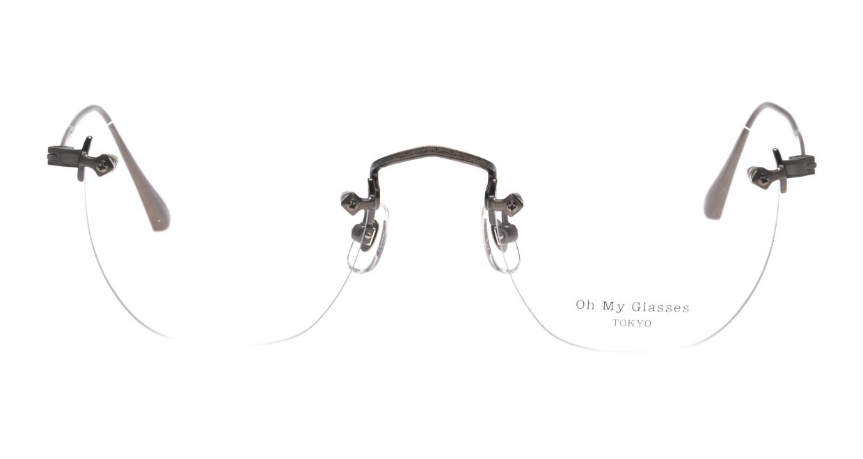 Oh My Glasses TOKYO omg-128 Otis-ATS-48 [メタル/鯖江産/縁なし/ウェリントン/シルバー]